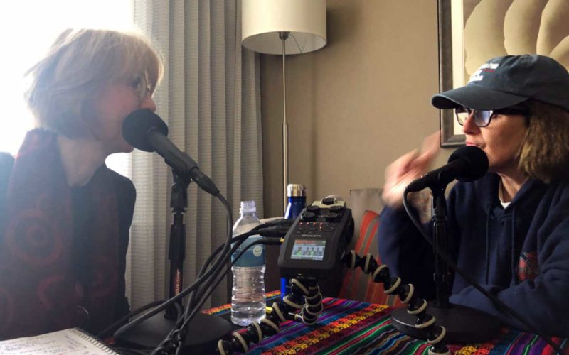 Sue Scott with Paula Poundstone